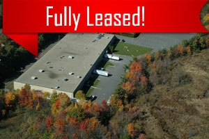A sky view of a building leased by Howland Development in Wilmington, MA