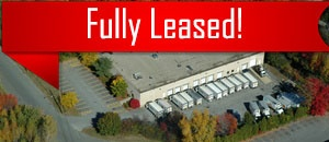 An aerial view of a lot leased by Howland Development in Wilmington, MA