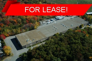 An aerial view of a building leased by Howland Development in Wilmington, MA