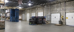 The inside of a warehouse leased by Howland Development in Wilmington, MA