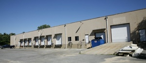 The loading area of a warehouse leased by Howland Development in Wilmington, MA